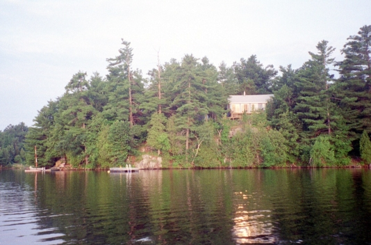 A view of the cottage in the morning