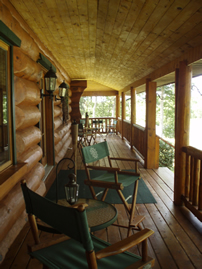 Extensive covered porch area to while away the time.